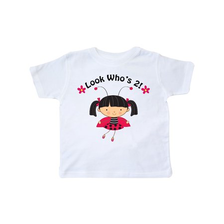 Inktastic 2nd Birthday Ladybug Toddler T-Shirt Second Kids Two 2 Outfit Cute Turning Im Bday Year Old Yr Party Tees. Gift Child Preschooler Kid Clothing Apparel (Birthday Party For 12 Yr Old Girl)