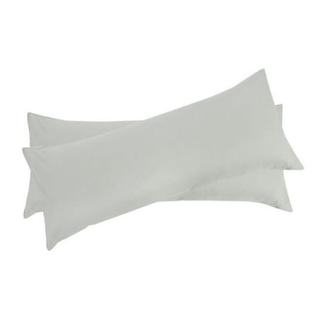 Set of 2 Body Pillow Cover Long Pillow Case for Body Pillows Light Gray 20