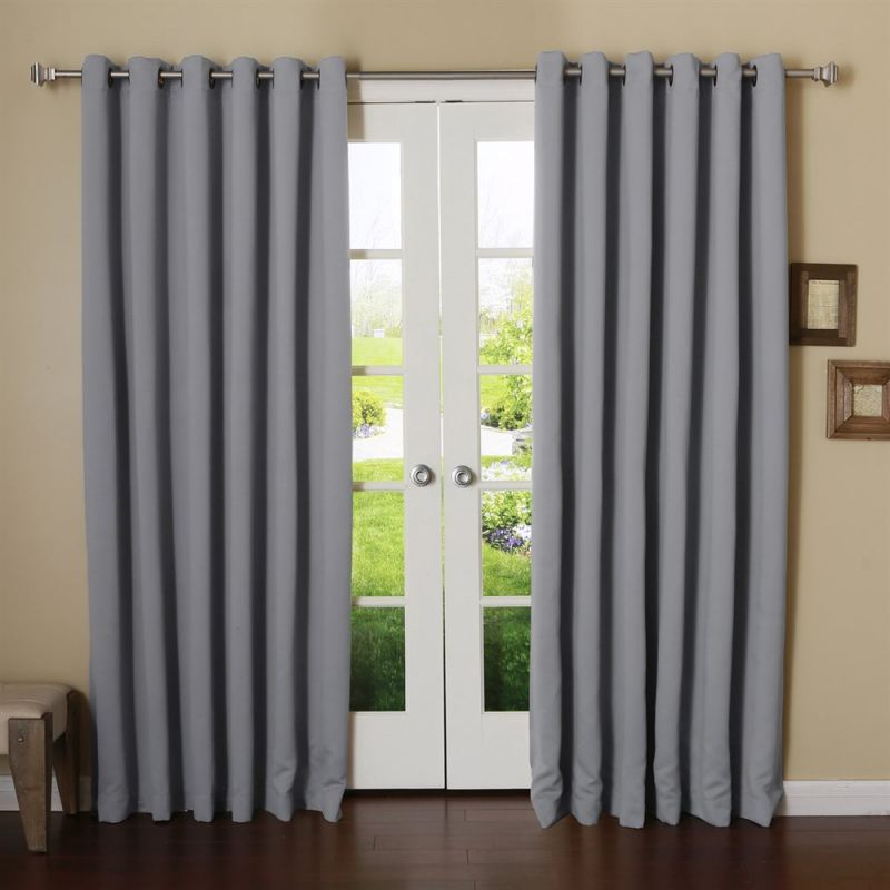 Best Home Fashion Wide Width Basic Solid Grommet Thermal Insulated Blackout Curtain 100-in W 96-in L