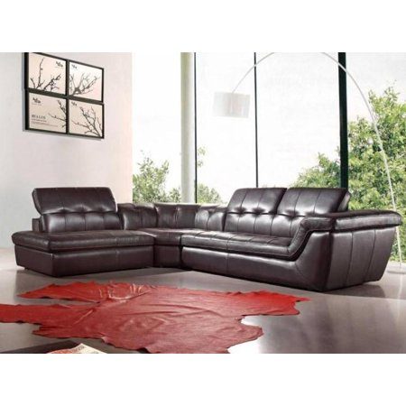 Excellent Jm 397 Modern Brown Italian Leather Sectional Sofa Adjustable Headrests Right Machost Co Dining Chair Design Ideas Machostcouk