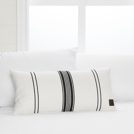 South S Lodge White And Black Striped Throw Pillow
