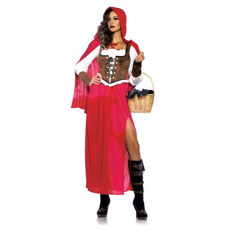 Leg Avenue Women's Woodland Red Riding Hood Costume, Red, Small