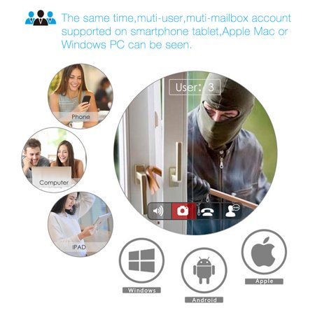 Digoo DG-M1Q 960P 2.8mm Wireless Mini WIFI Night Vision Smart Home Security IP Camera Onvif MonitorNote: IP Camera only support 2.4G RouterDescriptionBrandDigooModelDG-M1Q 2017 Smart Home  - image 5 de 11