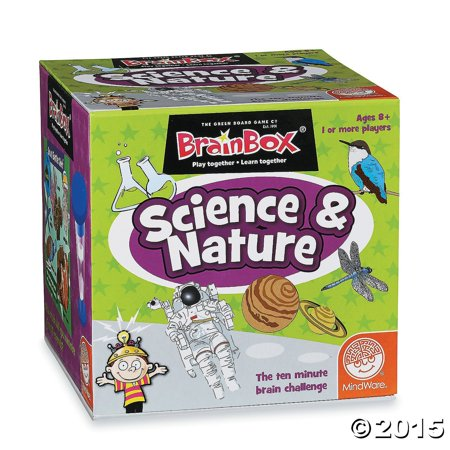 BrainBox: Science and Nature, TOYS THAT TEACH: BrainBox Science and Nature from MindWare is a colorful and fun way to learn about the world around us while improving.., By MindWare (Mindware Toys)