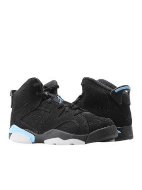 3bfb9e23641b Product Image Nike Air Jordan 6 Retro BP Black Blue Wheat Little Kids Shoes  384666-006