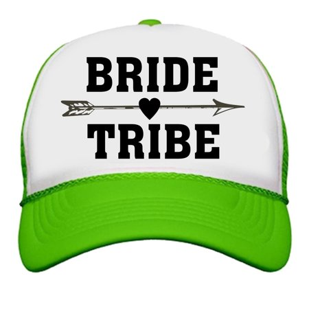 36709141fb1 Custom Apparel R Us - Bride Tribe Neon Trucker Snapback Hats Bachelorette  Party Wedding Bridal Party - Walmart.com