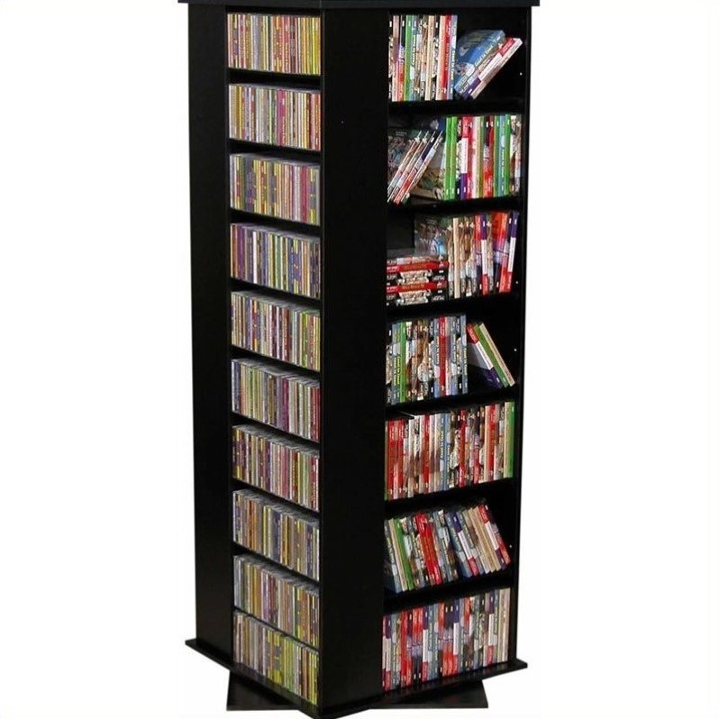 "Venture Horizon 63"" Revolving 4-Sided Media Tower-Dark Walnut"