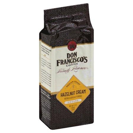Don Francisco's Family Reserve Medium Roast Ground Hazelnut Cream Coffee, 12