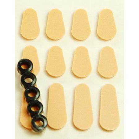 Product Sampler Kit (Comfort Kit Sampler Pack Self-adhesive Pads and Hinge Rings - Peach, Contains: 8 Nose Pads, 4 Temple Pads, 5 Hinge Rings By Optico )