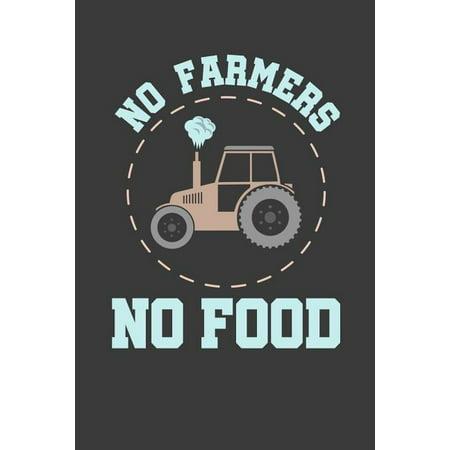 No Farmers No Food: 6x9 Notebook, 100 Pages dotgrid, joke original appreciation gag gift for graduation, college, high school, Funny congr Kindergarten Graduate Food