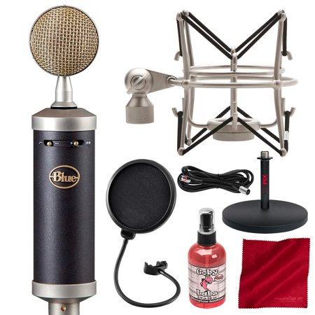 - Blue Baby Bottle SL Large-Diaphragm Studio Condenser Microphone with Pop Filter and Accessory Bundle