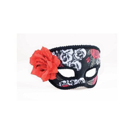 Day Of Dead 1/2 Mask Halloween Costume Accessory - Day Of The Dead Costume Mask