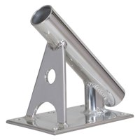 "Lee's Tackle MX7003CR Lee's Mx Pro Series Fixed Angle Center Rigger Holder - 45° - 1.5"" Id - Bright Silver"