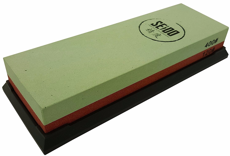 Seido 120 400 Grit Combination Corundum Whetstone Knife Sharpening Stone   Premium... by