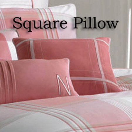Nautica Port Hope Square Decorator Pillow Pink16 X (Nautica European Decorator Pillow)