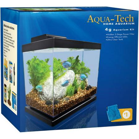 Aquatech 4gal aquarium kit for 30 gallon fish tank walmart