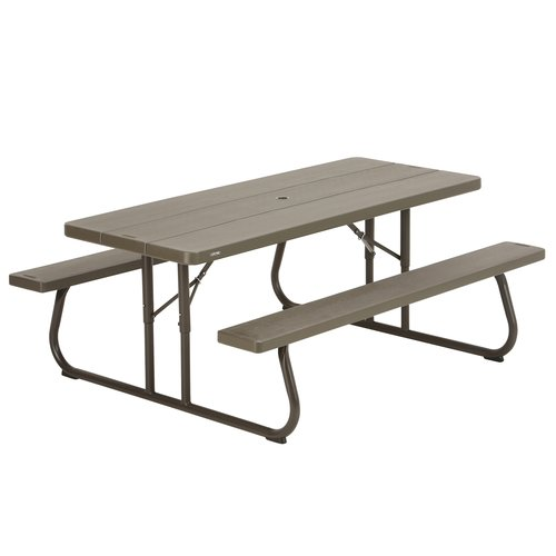 Lifetime 6' Picnic Table, Brown by Lifetime Products