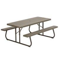 Lifetime Wood Grain Folding Picnic Table