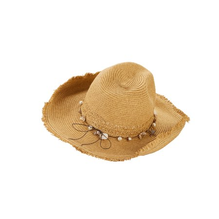 - Women's Shell Trim Cowboy Hat