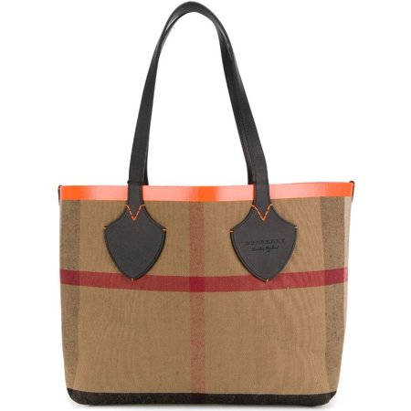 Burberry Women's Medium Giant Reversible Tote in Canvas and Leather Orange (Burberry Handbags For Women)