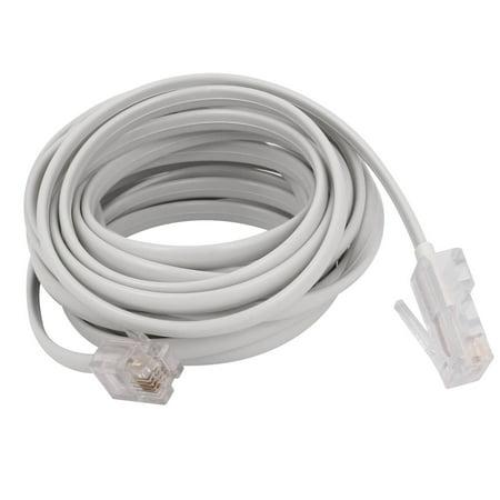 white rj11 6p4c to rj45 8p4c modular plug telephone network extension cable 10ft. Black Bedroom Furniture Sets. Home Design Ideas