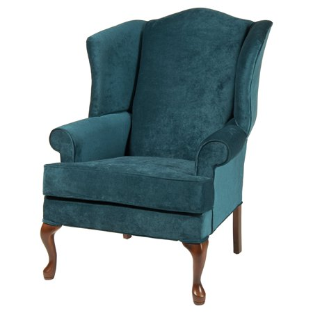 Comfort pointe elizabeth wingback chair for Comfortable wingback chair