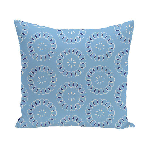 e by design Happiness Is ..Floral Print Throw Pillow