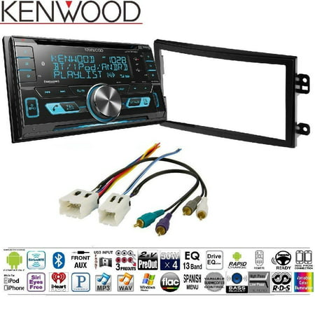 Kenwood DPX503BT Double DIN CD Bluetooth SiriusXM Car Stereo (Replaced DPX502BT) NDK742 INSTALLATION KIT 03-05 NISSAN 350Z DOUBLE -