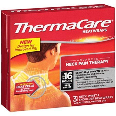 thermacare heatwraps neck, shoulder & wrist 3 each