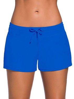SAYFUT Women's Fashion Adjustable Waistband Swimsuit Bottom Boy Shorts Swimming Panty Bathing Suits Plus Size