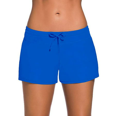 SAYFUT Women's Fashion Adjustable Waistband Swimsuit Bottom Boy Shorts Swimming Panty Bathing Suits Plus (Lululemon Bathing Suit)