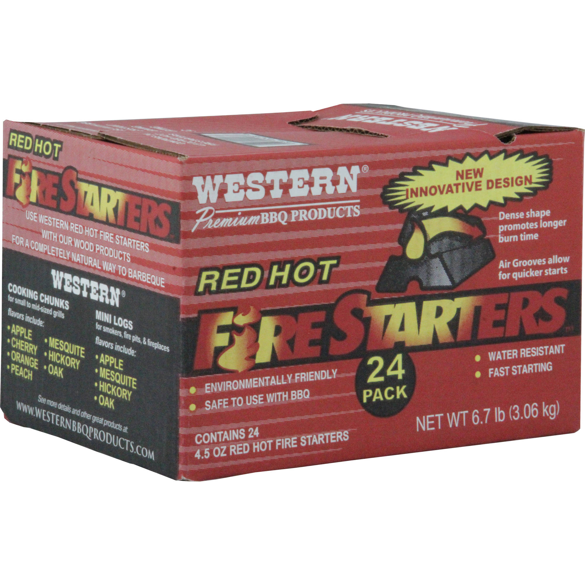 Western Red Hot Fire Starters, Pack of 24 by