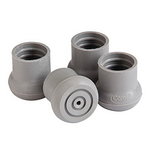 Carex Walker and Bath Bench Replacement Tips-Grey Color, 5.12 oz