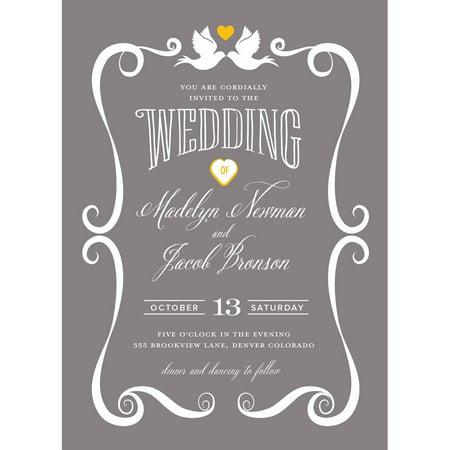 Doves Standard Wedding Invitation](Blue Safari Baby Shower Invitations)