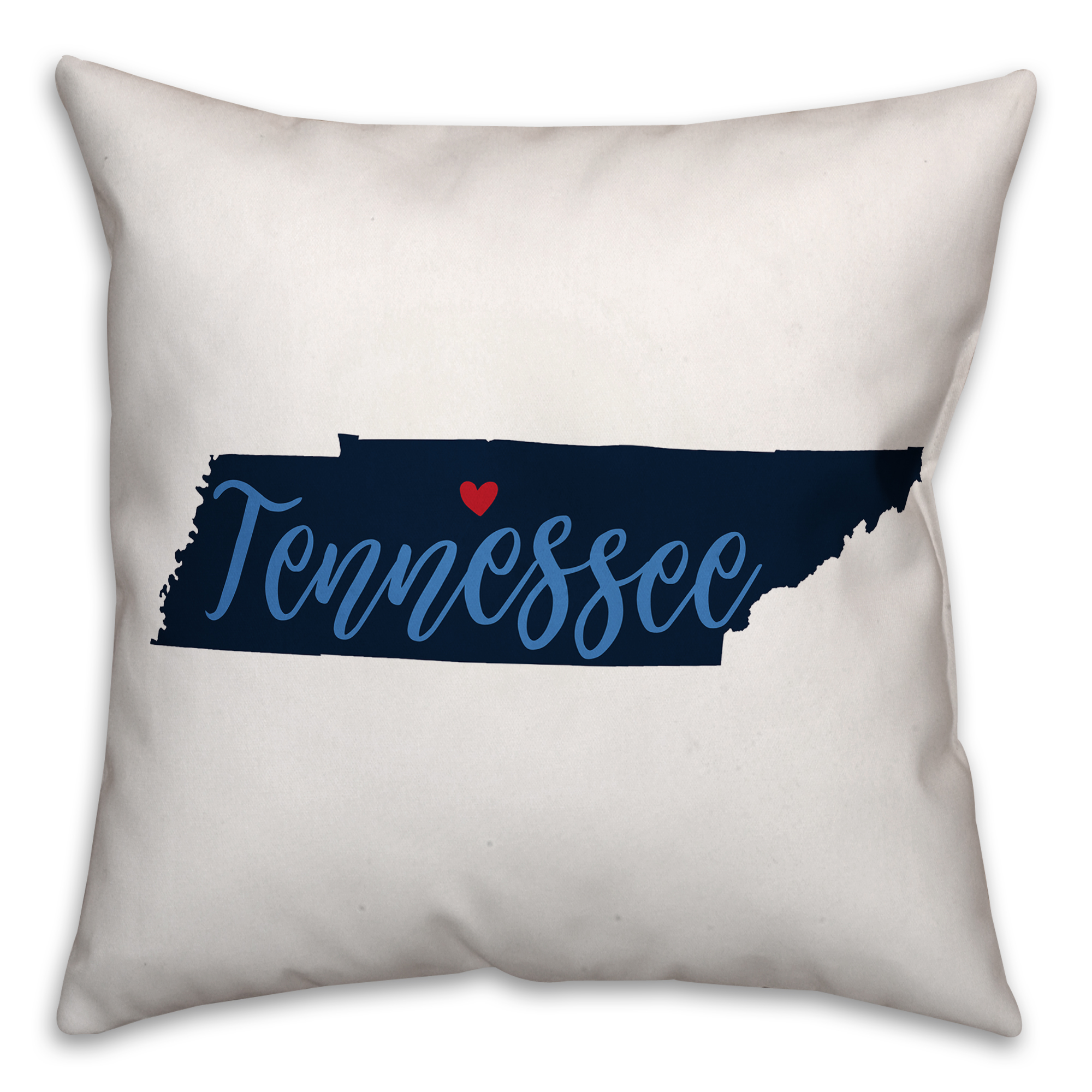Navy and Blue Tennessee Pride 16x16 Spun Poly Pillow