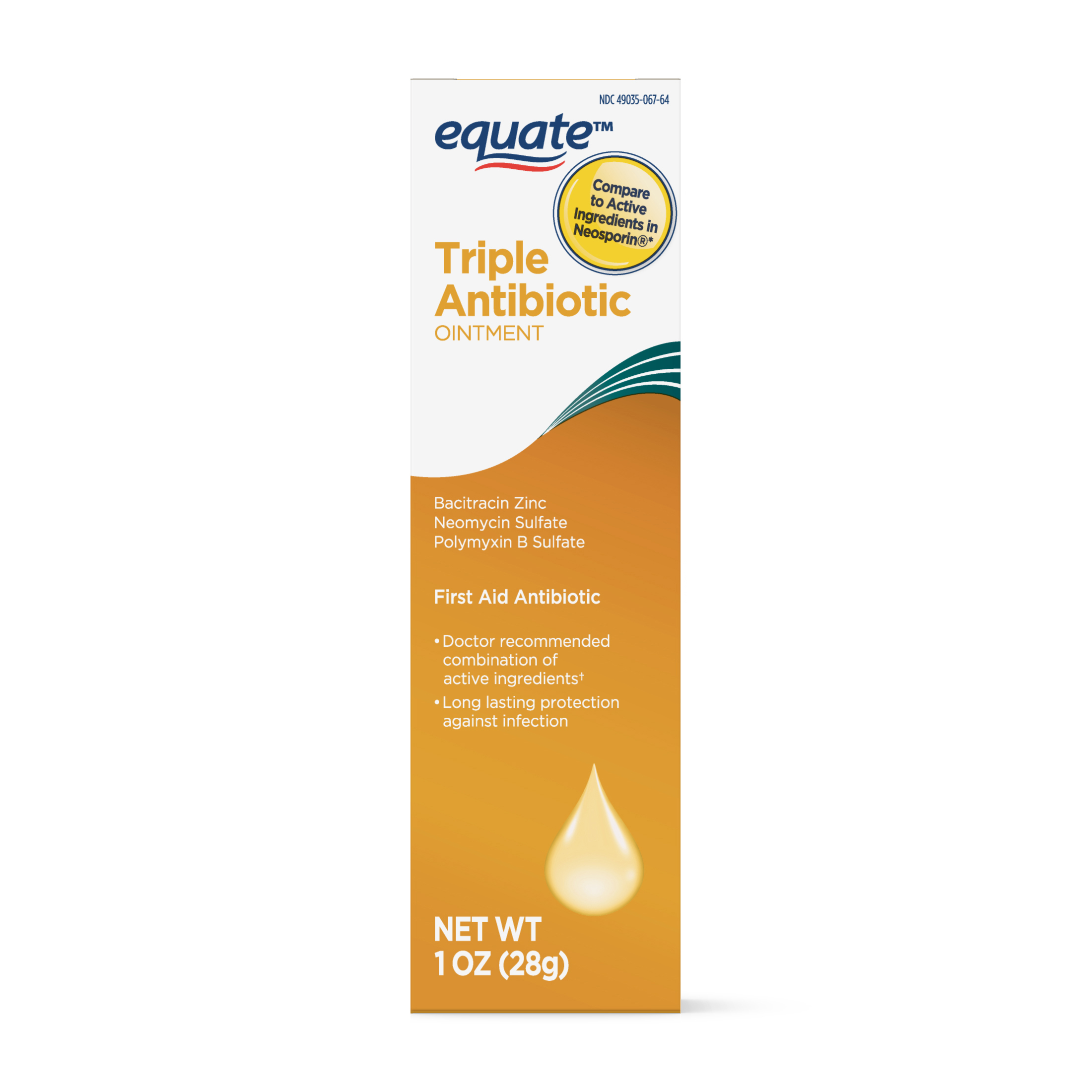 Equate First Aid Triple Antibiotic Ointment, 1 Oz