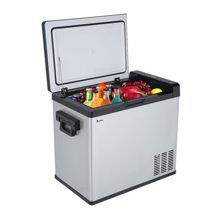 YOFE Portable Refrigerator, 50L Compact Vehicle Car Fridge Freezer, Multi-Functional Food Drinks Warmer Cooler Car Refrigerator Freezer, 54 Quart/AC110-240V/DC 12/24 Touch Screen Fridge, Black, R010