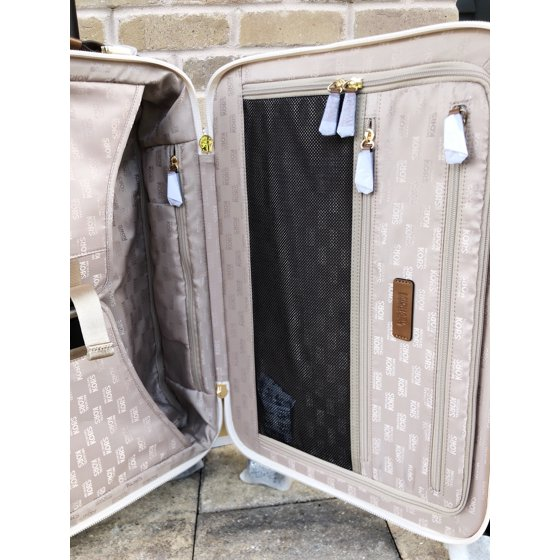 ddbd41495a4e Michael Kors Travel Trolley Carry On Suitcase Vanilla MK Signature -  Walmart.com