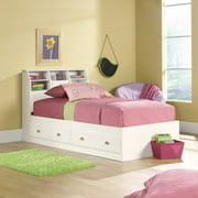 Sauder Shoal Creek Twin Mates Bed with Headboard, Soft White