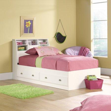 Sauder Shoal Creek Twin Mates Bed with Headboard, Soft White