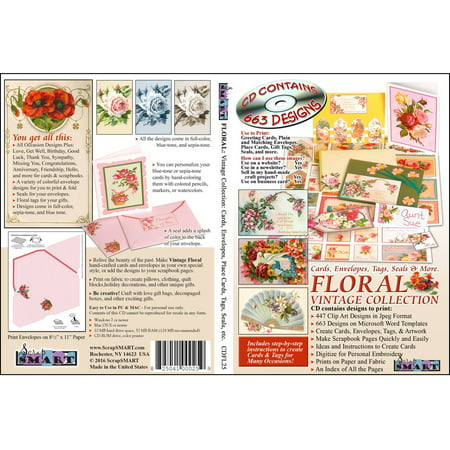 Sewing Clipart (ScrapSMART Floral: Collection Clip-Art CD-ROM: 447 Designs Vintage Quilt, Sew, Cards and Scrapbooks )