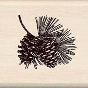 Inkadinkado Pinecone Branch Wood Mounted Stamp
