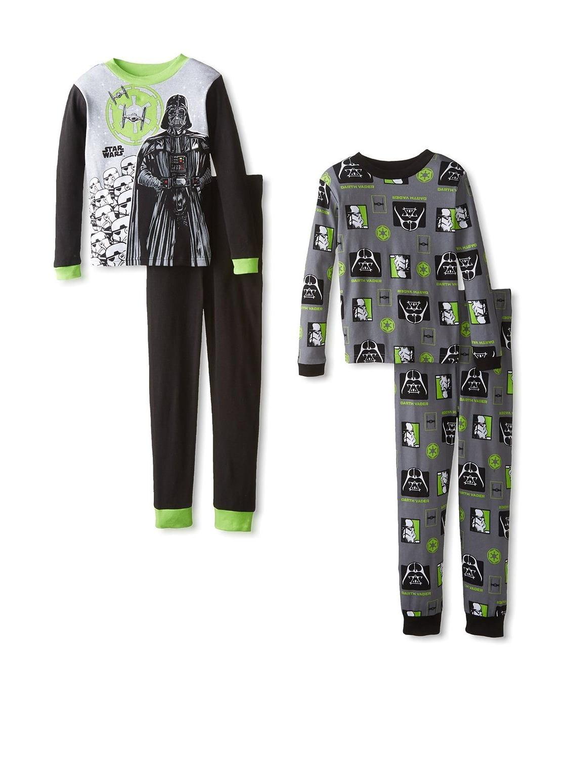 Star Wars Little Boys 4pc Black & Gray Snug Fit Pajama Pant Set
