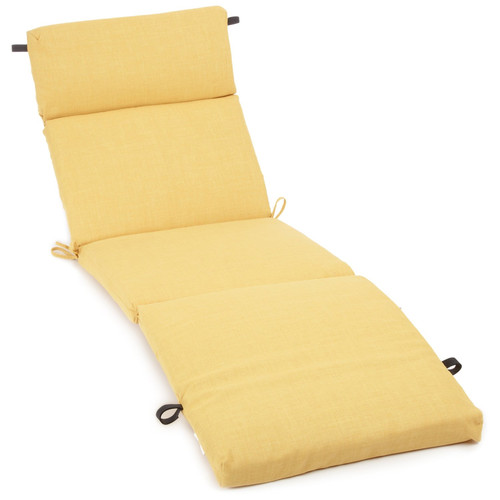 Blazing Needles Outdoor Chaise Lounge Cushion (Set of 2)