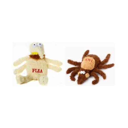 Multipet International Plush Dog Toy Flea Or Tick 6 In