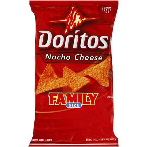 Doritos Family Size Nacho Cheese Tortilla Chips, 17 oz
