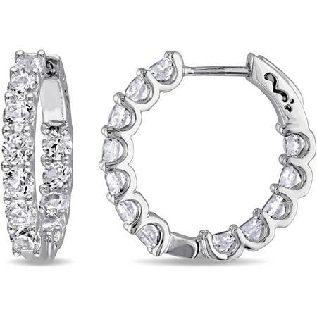 Miabella 4 1 10 Carat T G W Created White Shire Sterling Silver Clip Back