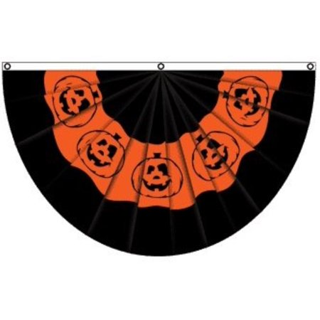 Halloween Usa Flag (Pumpkin Halloween Bunting Flag, Polyester, 3x5 Feet, 5 feet wide x 3 feet tall By Alotta)