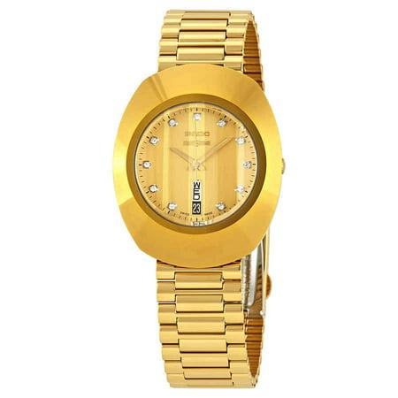 Rado The Original Diamond Gold Dial Watch R12304303 Rados 1 Handle