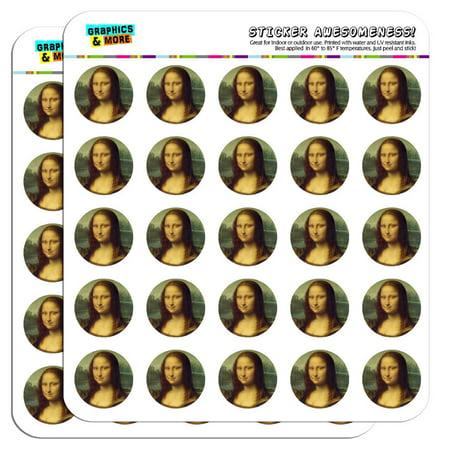 "Mona Lisa Painting by Leonardo da Vinci 1"" Scrapbooking Crafting Stickers"